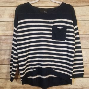 *6 for $20* Fate By LFD Sailor Stripe Knit Top